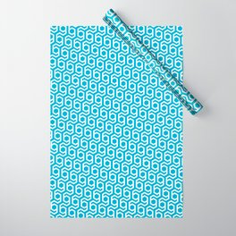 Modern Hive Geometric Repeat Pattern Wrapping Paper