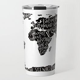 Travel quote map Travel Mug