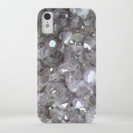 Sparkling Clear Light Purple Amethyst Crystal Stone iPhone Case