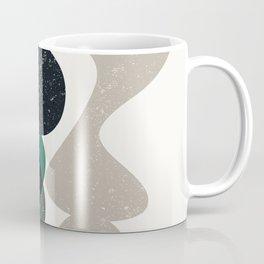 Simple Shapes Green, Black, Off-White Coffee Mug