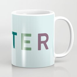 Colourful Happy Easter Typography Coffee Mug