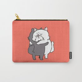 Persian Cat hugs Carry-All Pouch