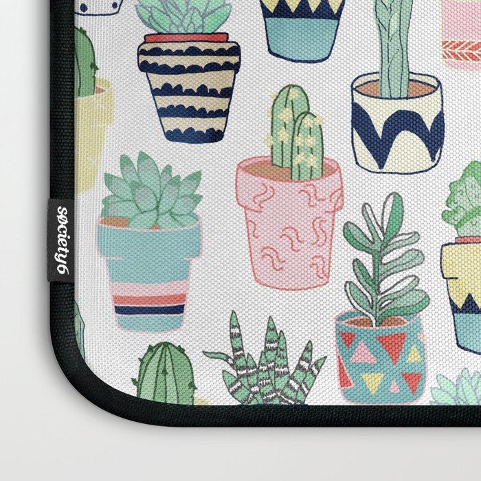Cute Cacti In Pots Laptop Sleeve By Tangerinetane Society6