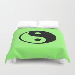 Yin Yang in green Duvet Cover