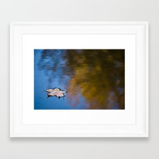 Lonely Reflection Framed Art Print