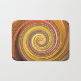 Swirls of digital paint Bath Mat