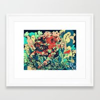 camo Framed Art Prints featuring CAMO by NimbusBlack