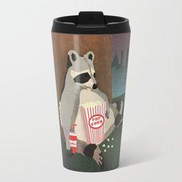 Cute Raccoon Snacking in the Night Travel Mug