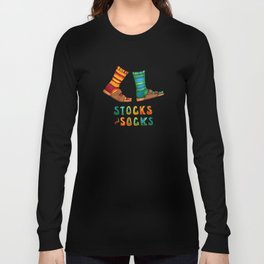 Stocks And Socks with Groovy Lettering Long Sleeve T-shirt