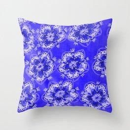 Blue Autumn Violet Throw Pillow