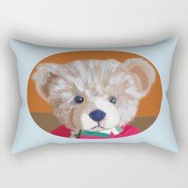Teddy Portrait Rectangular Pillow