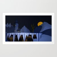dark tower Art Prints featuring Dark Tower by Vouokeck