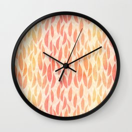 Watercolour Leaves Wall Clock