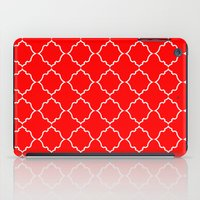 moroccan iPad Cases featuring Moroccan Red by Jenna Mhairi