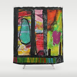 Pond and Heart Shower Curtain