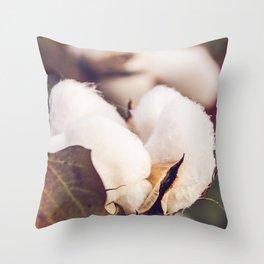 Cotton Field 24 Throw Pillow