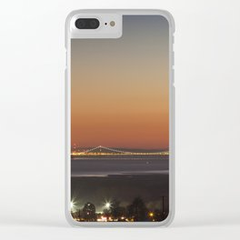 November Sunset over the Severn Clear iPhone Case