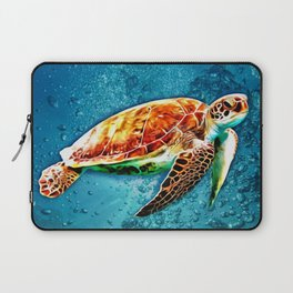 SEA TURTLE SWIMMING Laptop Sleeve