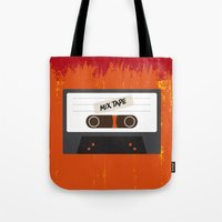 cassette Tote Bags featuring Cassette by Ruveyda & Emre