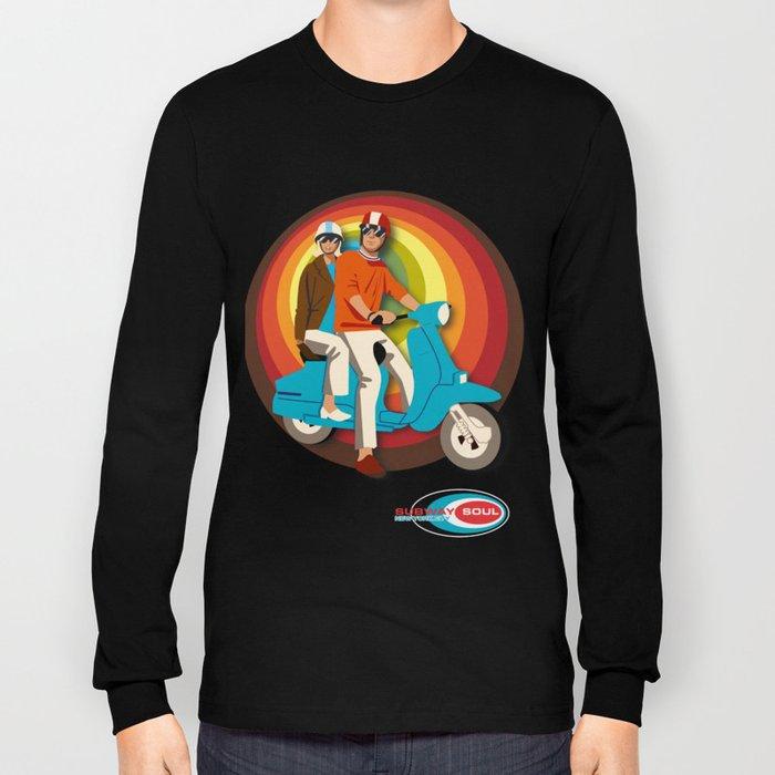 'Scooter Pair' Subway Soul by Dawn Carrington Long Sleeve T-shirt