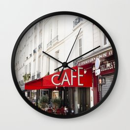Cafe in Paris Wall Clock