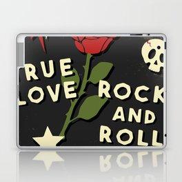 Grunge rock slogan print Laptop & iPad Skin