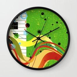 Jazz Background Wall Clock