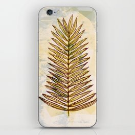 Palm Frond Leaf Abstract Geometric Polygon Watercolor Painting of Tropical Leave iPhone Skin