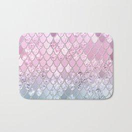 Mermaid Glitter Scales #2 #shiny #decor #art #society6 Bath Mat