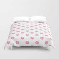 polka dot Duvet Covers featuring Polka Dot by Ryan Winters