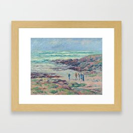 Grey Weather, Finistere, 1908, by Henri Moret (1856–1913) (Art Paintings) Framed Art Print