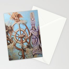Wheel of Fortune Tarot card by Nefertara Stationery Cards