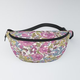 Painted Abstract Florals Fanny Pack