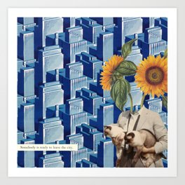 Somebody is ready to leave the city Art Print