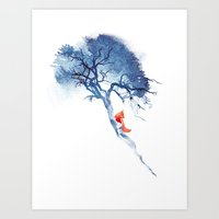 calm Art Prints featuring There's no way back by Robert Farkas