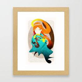 Madame Serpent Framed Art Print