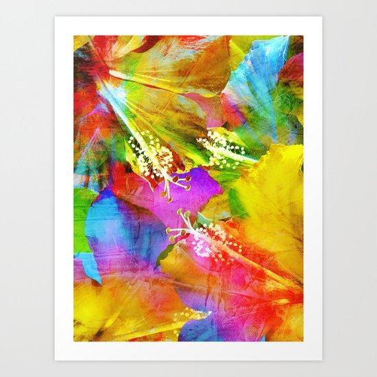 Hibiscus Dream #3 Art Print
