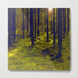 Green Forest #decor #society6 Metal Print