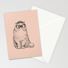 Hipster Persian Cat Stationery Cards