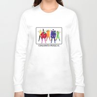 vegetables Long Sleeve T-shirts featuring Human Vegetables by Orbon Alija