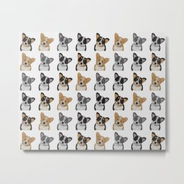 Welsh Corgi Pattern Metal Print