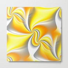 Turn Around (yellow) Metal Print