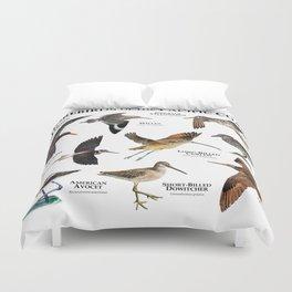 Shorebirds of the Pacific Coast Duvet Cover