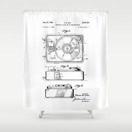 Turntable Patent Shower Curtain
