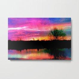 Watercolor January Texas Sunrise Metal Print