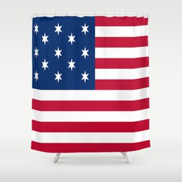Historical flag of the USA : Hopkinson Shower Curtain