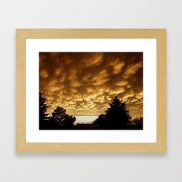 Sunset Billows Framed Art Print