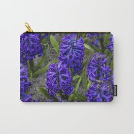 Close-up of Beautiful, Deep Purple Hyacinths in Amsterdam, Netherlands Carry-All Pouch