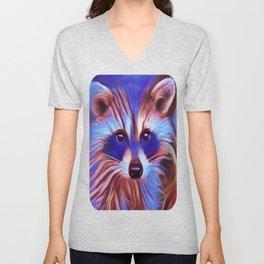 The Raccoon Bandit Unisex V-Neck