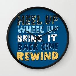 Wheel Up  Wall Clock
